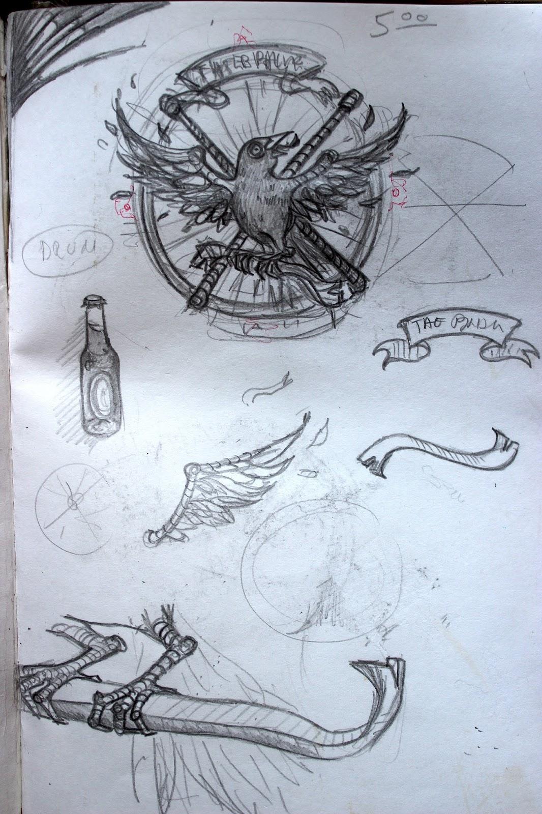 Sketchpad Notebook Sketch Drawing Pencil Crowbar