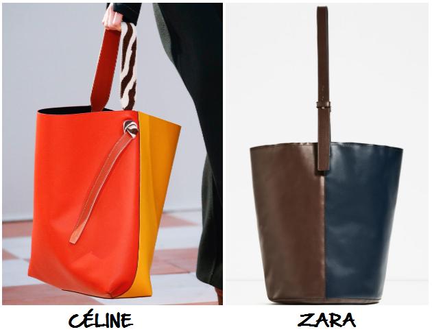 clones 2016 bolso Céline Zara