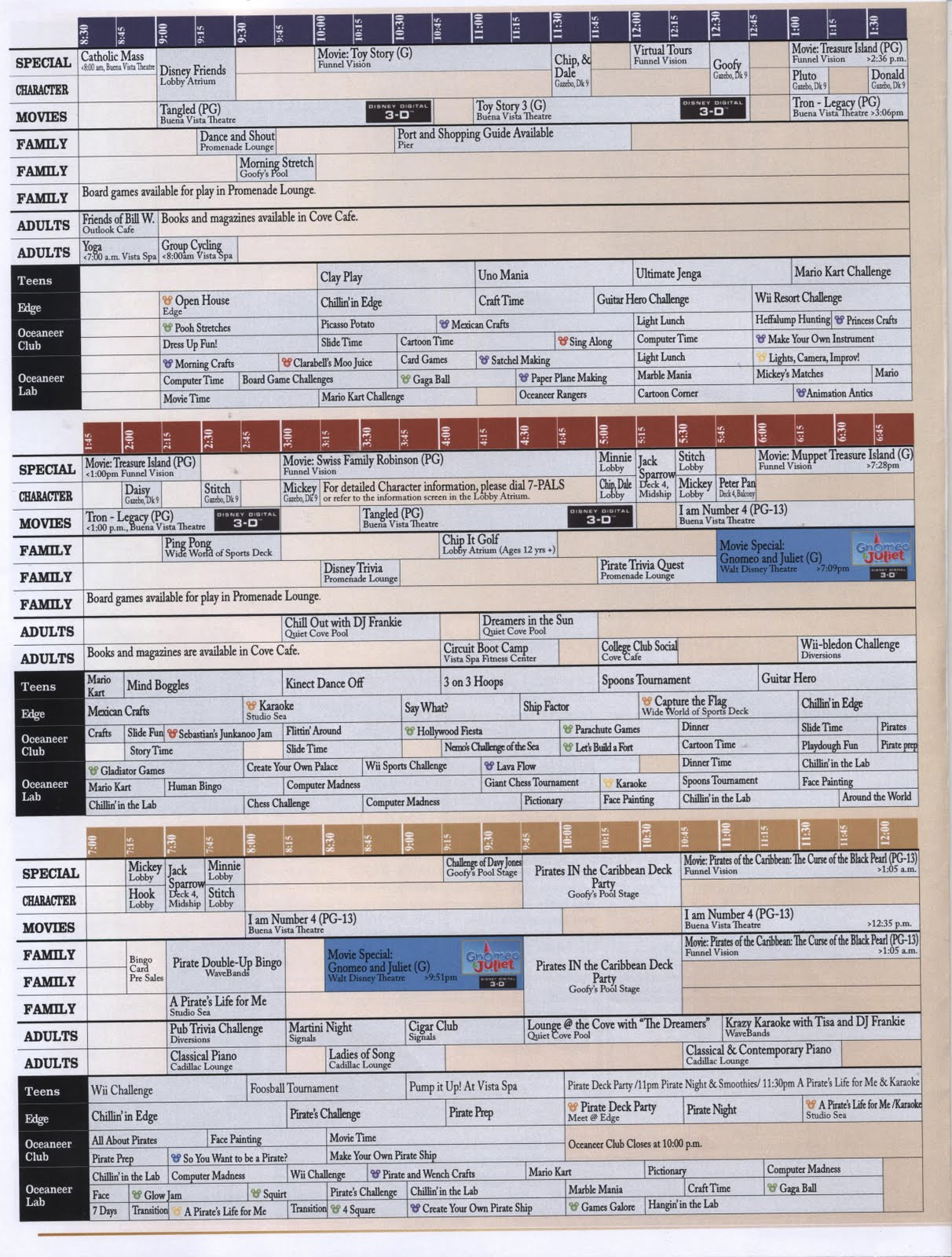 Pixie Pranks And Disney Fun Disney Cruise Line Daily Navigators