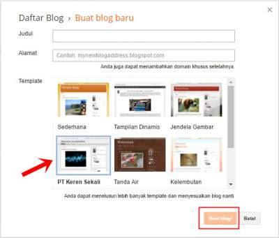 cara membuat blog gratis sendiri