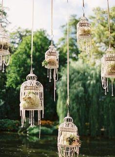 Las jaulas como elemento decorativo en las bodas - Foto: Pinterest