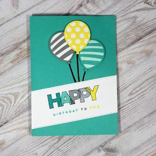Balloon pop-up card
