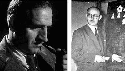 Los ajedrecistas José Sanz y Julio Bolbochán
