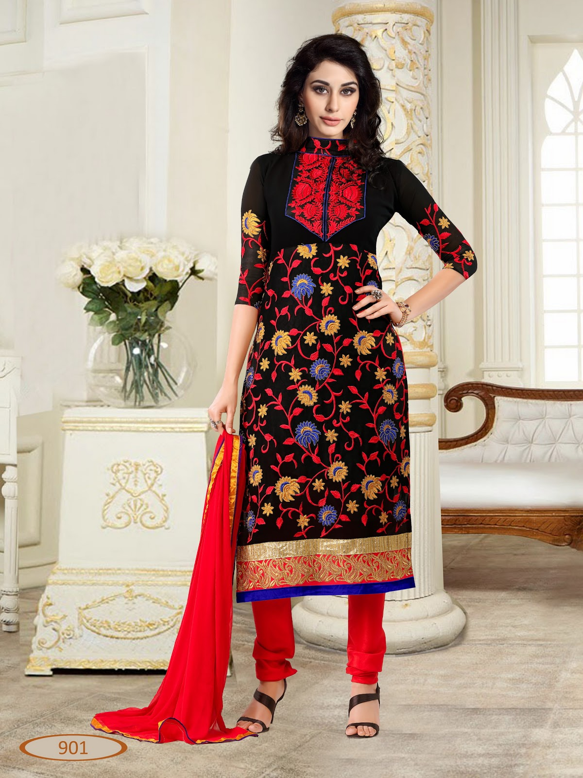 Innayat – Looking Gorgeous Georgette Churidar Salwar Suit