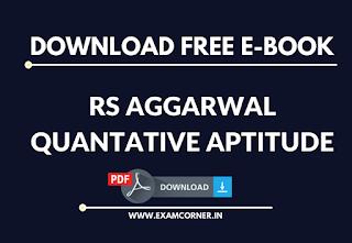 RS Aggarwal Quantitative Aptitude Free E-Book Download