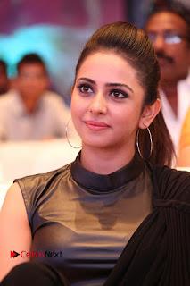 Actress Rakul Preet Singh Stills in Black Saree at Rayudu Movie Audio Launch  0119