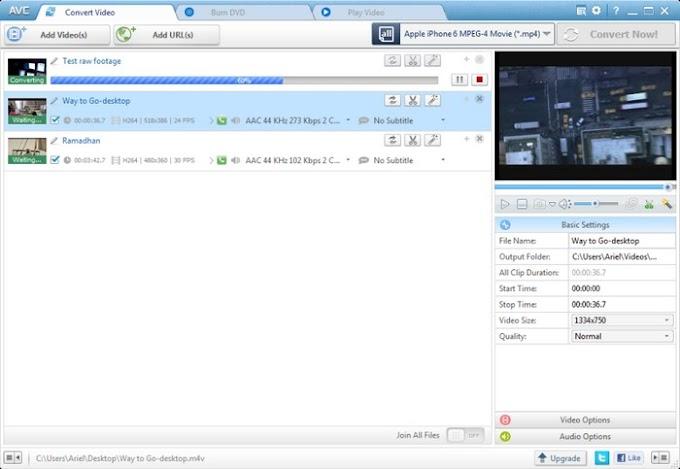 Any Video Converter 6.1.9 - Δωρεάν μετατροπέας αρχείων βίντεο και όχι μόνο