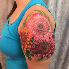10 daisy tattoo on the arm for women, the coolest