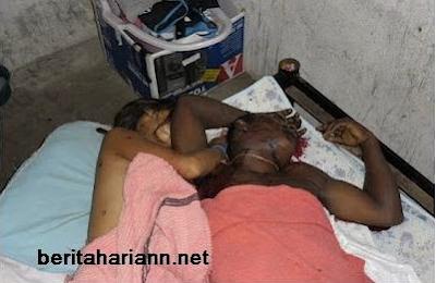 gambar pembunuhan ngeri, mayat, ditembak suami
