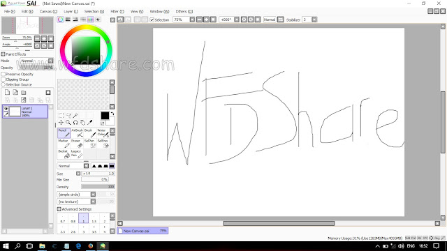 Paint Tool Sai Terbaru Full Version