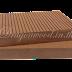 ไม้เทียม ปูพื้นแบบตัน สีน้ำตาลแดง ลายร่อง+ลายเสี้ยน กว้าง 10cm,13.5cm,14.6cm x หนา 2.5cm x ยาว 220cm,240cm,300cm