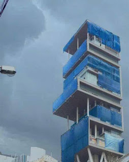 mukesh ambani house in rain