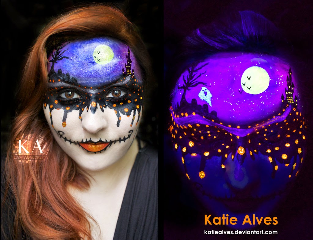 07-Dripping-with-Halloween-Katie-Alves-Makeup Paint Effects-www-designstack-co