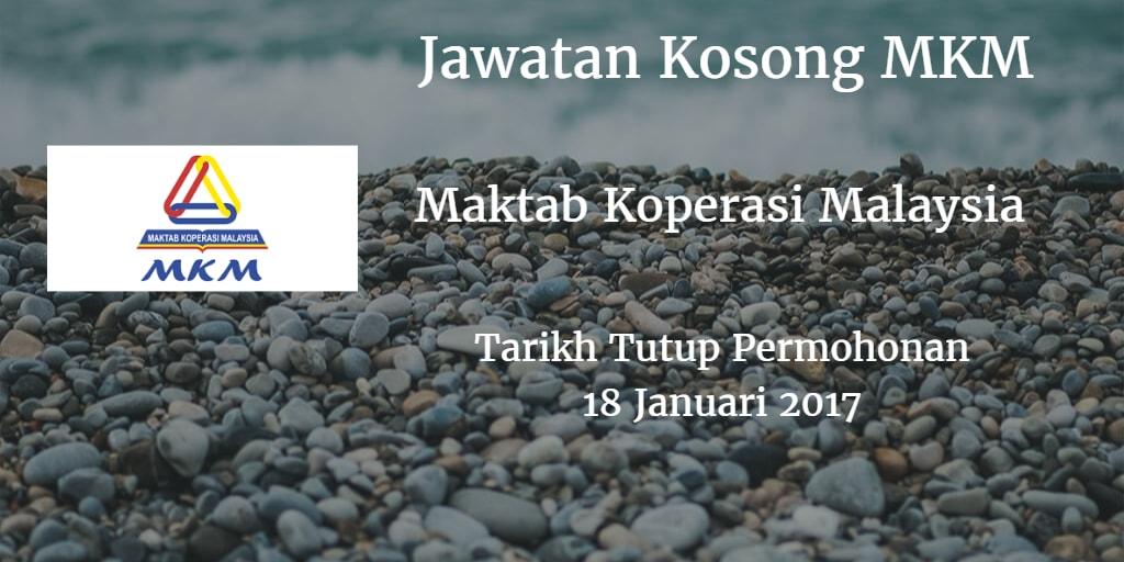 Jawatan Kosong MKM 18 Januari 2017
