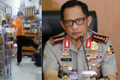 Murka Kapolri Tito Karnavian, Ada Polisi Tendang Ibu-ibu Pengutil, Langsung Dicopot!