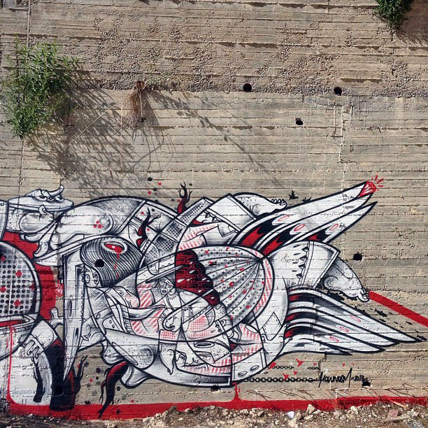 Street Art Duo How Nosm In Palestine Where They Painted Several New Pieces. 4