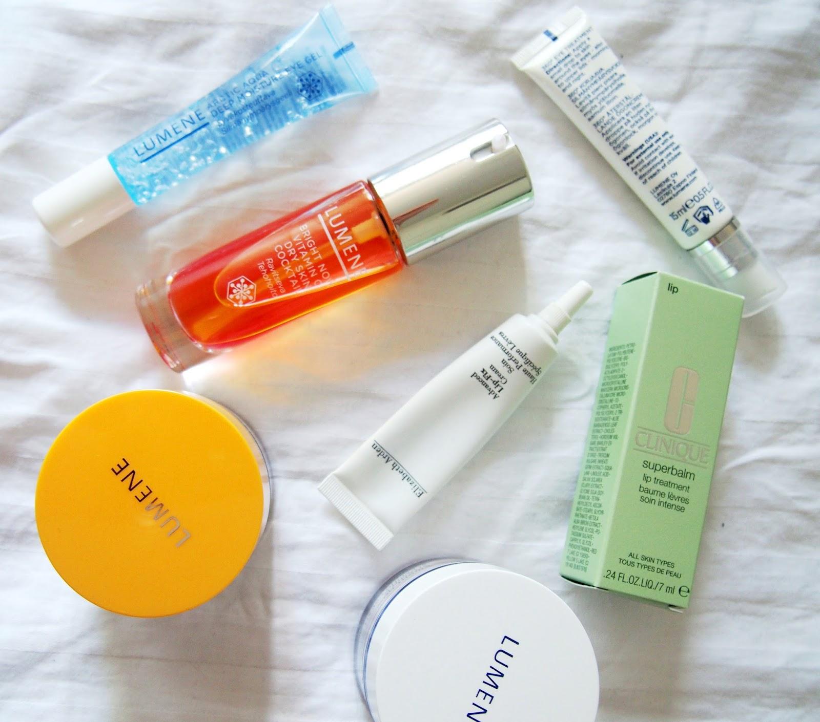 lumene elisabeth arden clinigue meikki make up beauty kauneus skin care ihon hoito iho kasvot face ansiktet take care hoitaa huoltaa pesu puhdistus puhdistaa