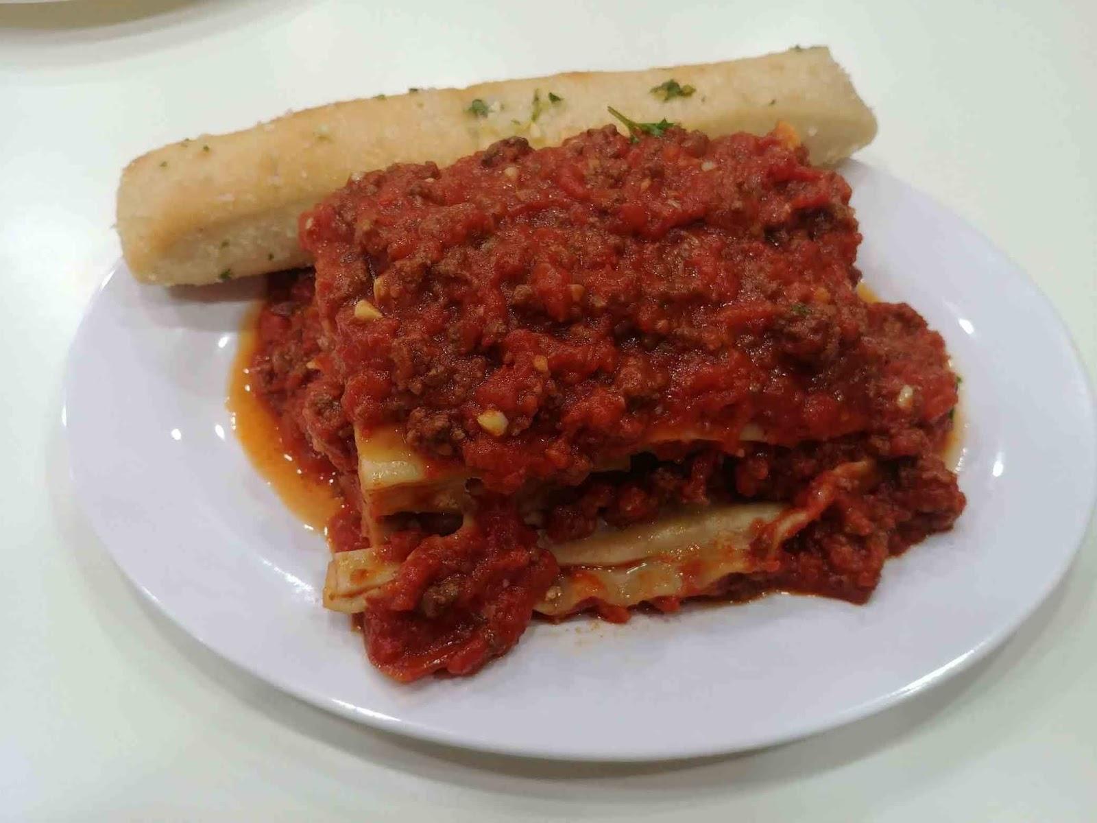 Sbarro meat lasagna