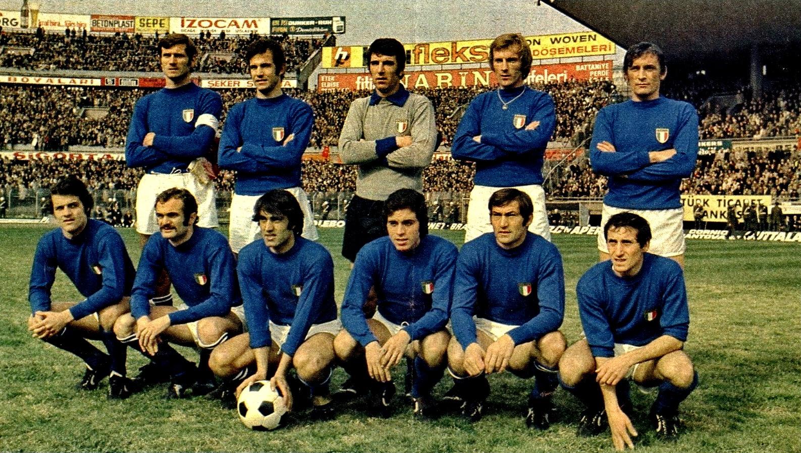 EQUIPOS DE FšTBOL ITALIA Selecci³n 1970 2020