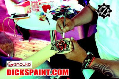 body painting jakarta flowers