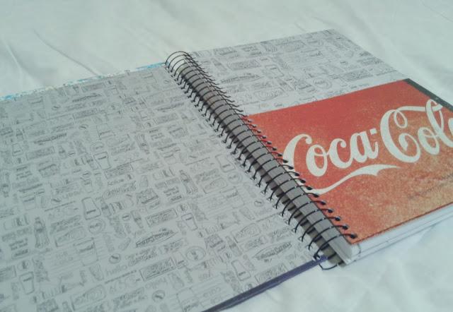 quase perfeito, caderno coca cola