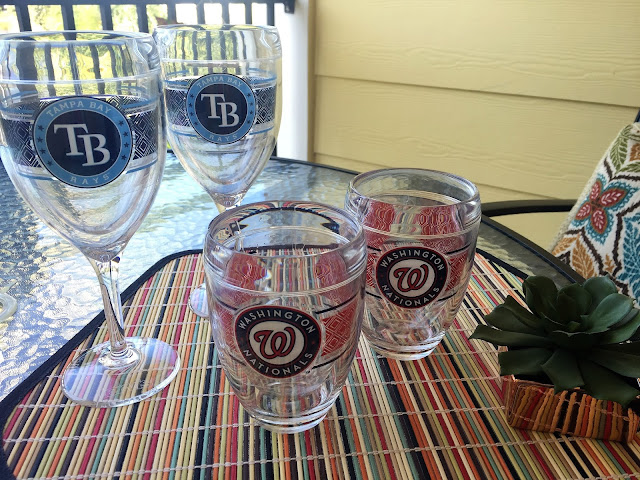 MLB team wine glasses