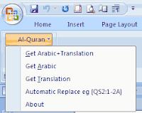 cara menulis ayat al-qur'an di word