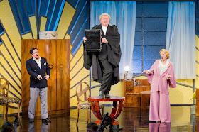 Ben Johnson, Robert Burt, Susanna Hurrell - Die Fledermaus - Opera Holland Park. Photo Robert Workman.