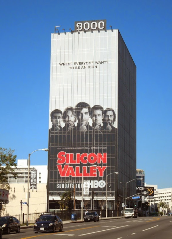 Giant Silicon Valley season 1 billboard Sunset Strip
