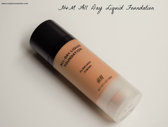 H&M All Day Liquid Foundation in Caramel Review & Swatch