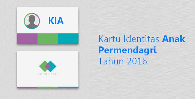 Download Kartu Identitas Anak Permendagri Tahun 2016