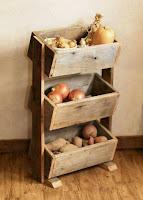 Fruteros hechos de madera