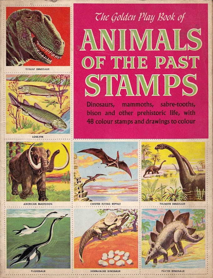 Vintage Dinosaur Art: Animals of the Past Stamps