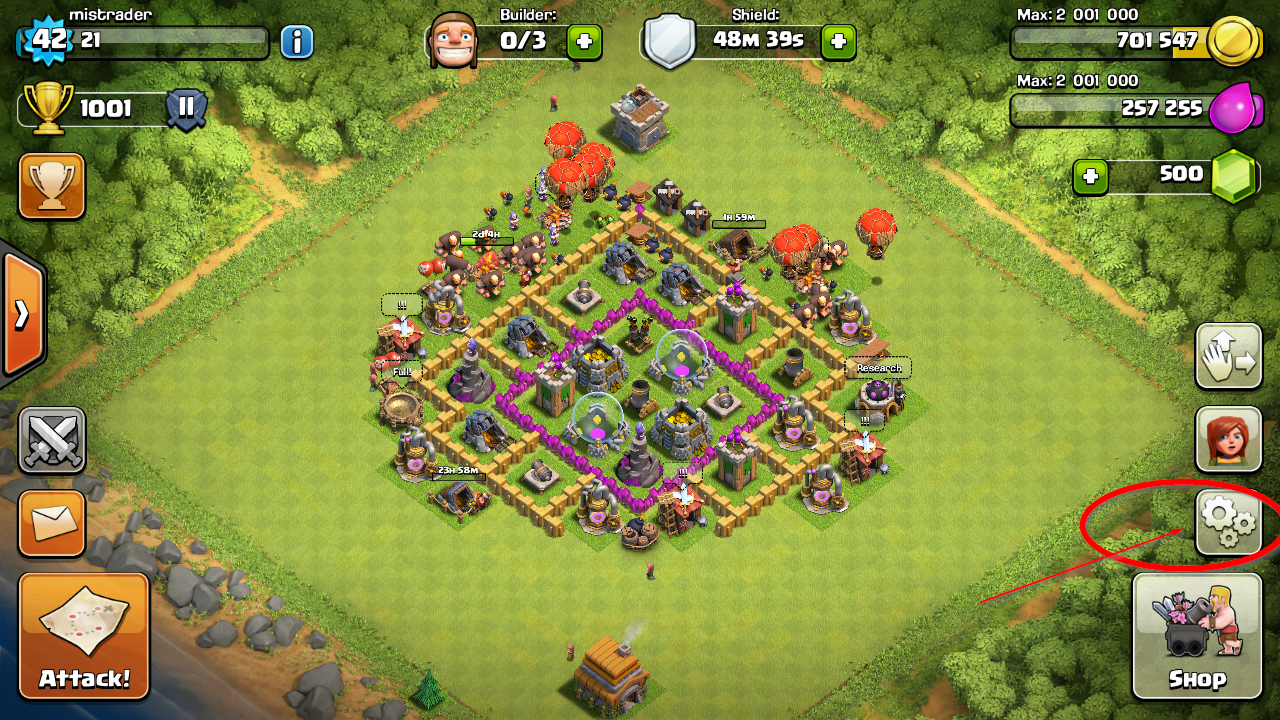 change clash of clans username