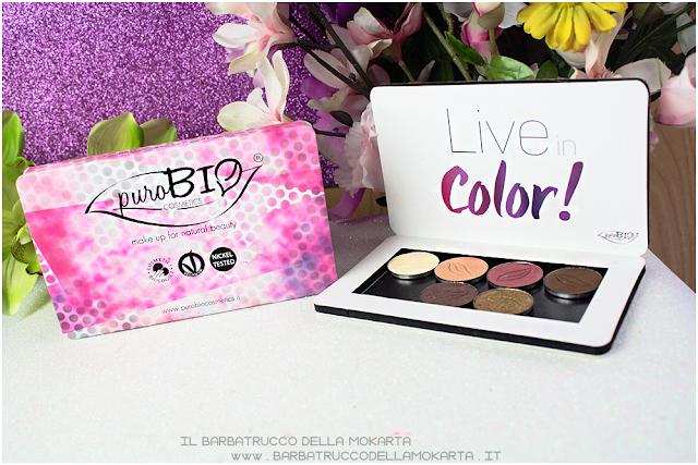 live in color Palette magnetica purobio cosmetics