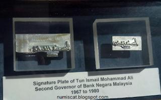 Plat Tanda Tangan Tun Ismail Mohammad Ali