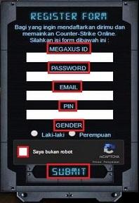 Cara Daftar CSO Counter Strike