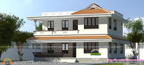 2024 sq-ft Kerala model home