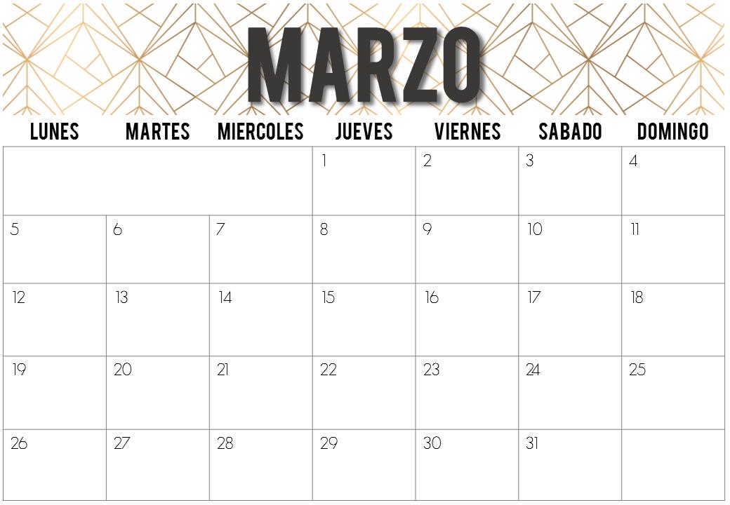 The Random Chaos: Calendarios de Marzo 2018   Imprimibles