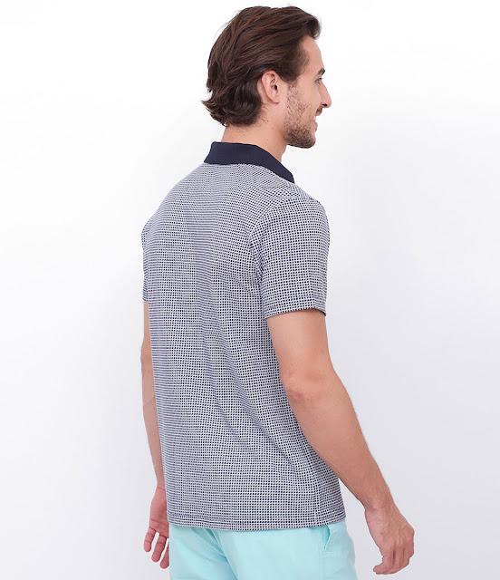 Aproveite o Verão Camisa Polo Estampada