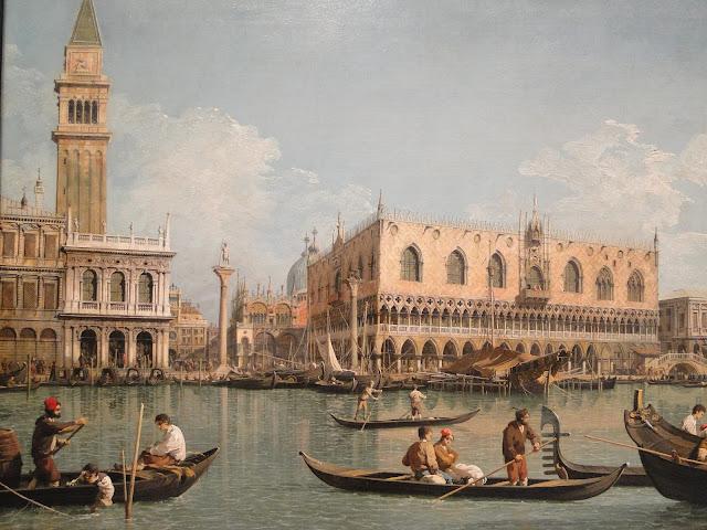 Pintura retratando o cotidiano em Veneza