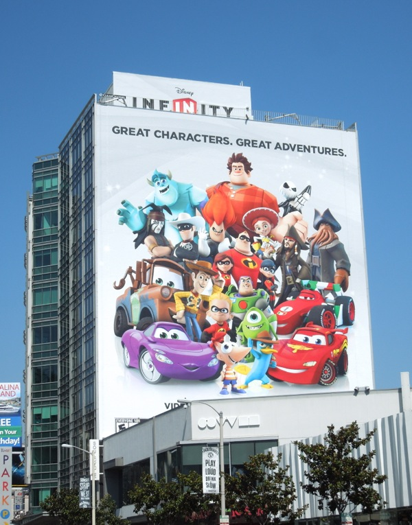 Giant Disney Infinity game billboard