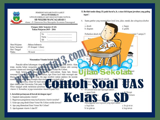 Contoh Soal UAS Kelas 6 SD Format Words