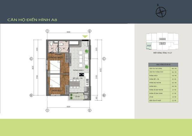 Thiết kế căn hộ A8 Hồng Hà Tower