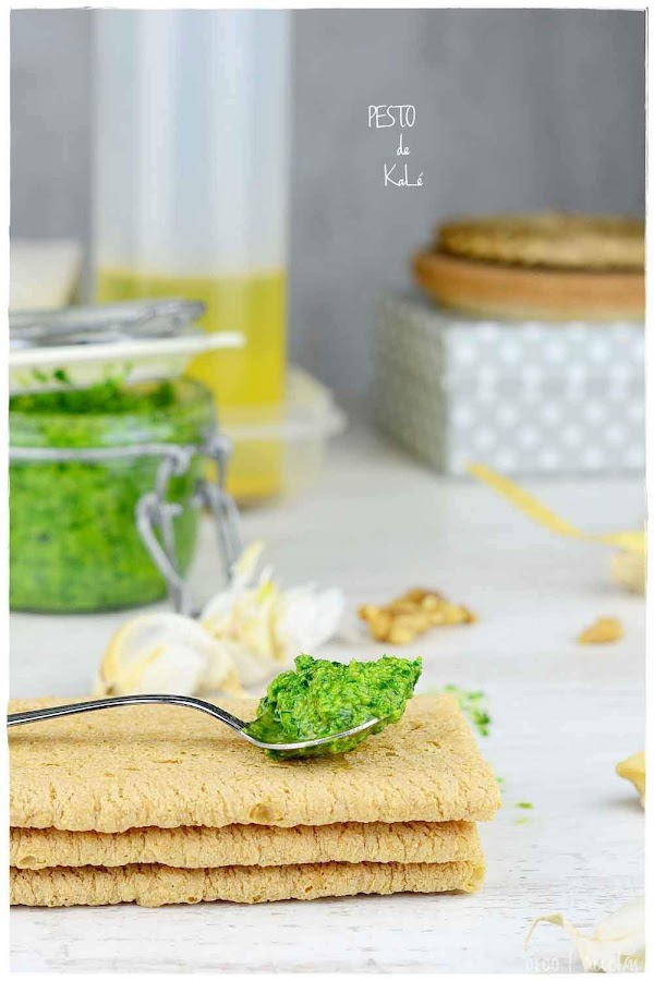 pesto de col kale- pesto de kale col rizada- pesto de kale receta de cocina fácil- ingredientes del pesto- paso a paso del pesto