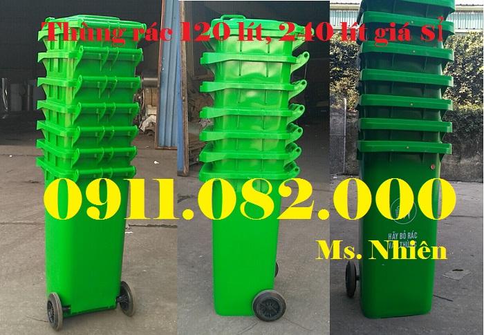 Thanh lý thùng rác nhựa 120 lít 240 lít giá rẻ