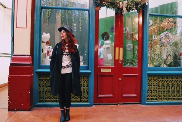 save the friday, christmas, outfits, ootd, london, londres, jacquard, ugly christmas sweater, leadenhall market, blog,