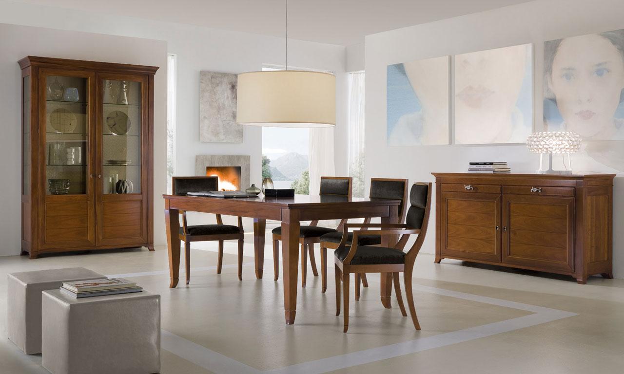 Arredamento soggiorno neoclassico mobili soggiorno classico noce
