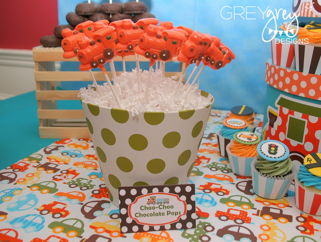 GreyGrey Designs Bretts Planes Trains And Automobiles 2nd Birthday Party