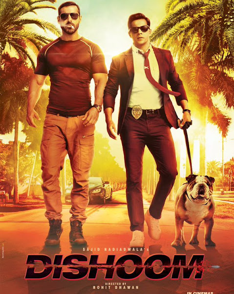 Poster Of Dishoom 2016 720p Hindi DVDRip Full Movie Download